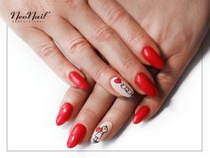 Czerwone paznokcie hybrydowe / NeoNail Manicure, Nails, Valentines, Beauty, Makeup, Pure Nail Bar, Finger Nails, Valantine Day, Ongles