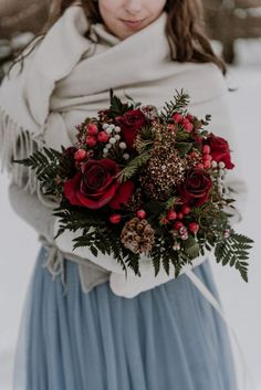 Sarka and Michal love hiking, mountains, and snow. So of course when it came to their big day, it had to be a Winter wedding, in a cozy lodge! We love the bride's winter blue tulle skirt! dresses winter blue Winter Fairytale Wedding in Slavkov Forest Winter Wedding Flowers, Red Wedding, Wedding Shot, Wedding Ideas, Winter Wedding Bridesmaids, Wedding Colours, Lodge Wedding, Wedding Nails, Destination Wedding
