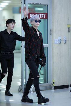 Monsta X Wonho's airport fashion is always on point.