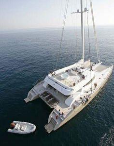Catamaran Yacht Charter Black Swan. http://www.aegean-catamarans.com/catamarans-for-charter/black-swan-bluebay-90/