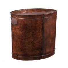 Burton Chestnut Oval Bin