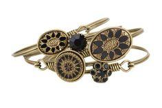 Black and Gold Hook Bracelets