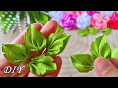 YouTube Diy Lace Ribbon Flowers, Ribbon Art, Ribbon Crafts, Fabric Flowers, Paper Flowers, Flower Corsage, Origami, Diy And Crafts, Crochet Patterns