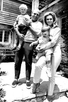 Elizabeth Montgomery and husband William Asher with their kids, William and Robert, in 1969