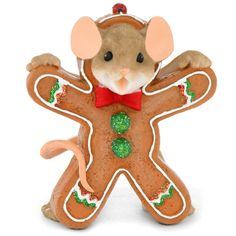 Gingerbread Cookie Mouse Charming Tails Figure | Bronner's CHRISTmas Wonderland