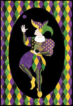 """The Jester pattern- PTN735  Kate Mitchell of Kate Mitchell Quilts  Size: 22"""" x 32""""  www.katemitchellquilts.com"""