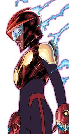 Nova (Anwen Bakian) by W. Female Superheroes And Villains, Comic Book Superheroes, Marvel Villains, Superhero Characters, Marvel Images, Marvel Comic Universe, Comics Universe, Marvel Dc Comics, Superhero Design