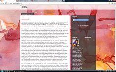 Een blog waar ik recent aan begonnen ben, zie http://tess--tess.blogspot.nl/