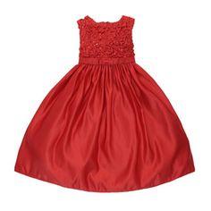 17 Sugar Plum Embellished Red A-Line Occasion Dress