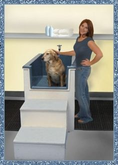 New breed dog baths perfect for the self serve dog wash business have the tub come off the wall this way so they can get on wither side of the dog while washing help the back pain solutioingenieria Images