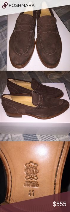 BNWT Penny Loafers I bought these a while ago for my dad but they didn't fit. Apron stitching at almond toe. Leather sole. Made in Italy. Retail around $700 Antonio Maurizi Shoes Loafers & Slip-Ons