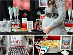 'Rock a Bye' baby shower. Rock and roll theme for a baby shower, what a fun idea!