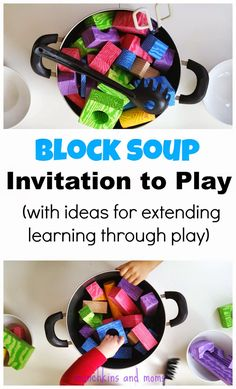 Block Soup Pretend Play (with ideas on how to extend the activity and learn through play!)