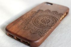 iphone 5 case wood Engraved Mandala wood iphone 5s by Janecases, $23.85