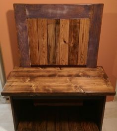 Bench made from reclaimed wood