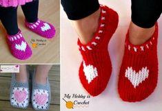 Crochet Heart Slippers