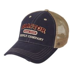 Tractor Supply Co. Logo Cotton Cap, Olive and Blue