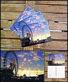 """Postkarte """"Abends auf der Wiesn"""" von Art-MG auf DaWanda.com"""