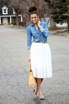 chambray and tulle