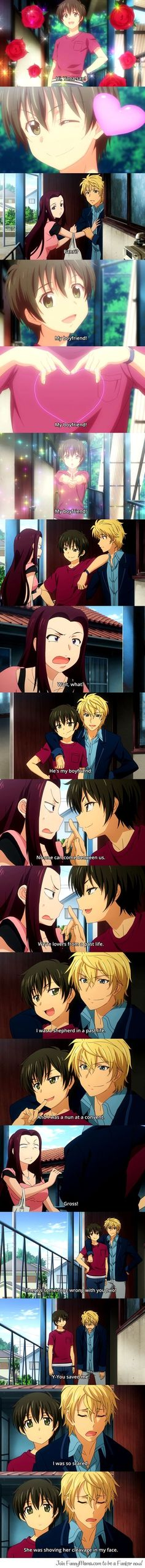Puhahahaha!! What anime is this???? I need to see this like yesterday! I have physically died!! So funny :'D