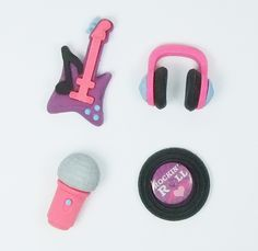 Music instruments erasers | guitar record rubber erasers - $4.99 USD