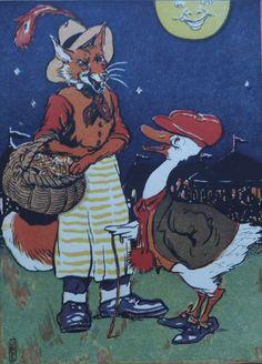"""vintage book illustration signed """"Ogle""""."""