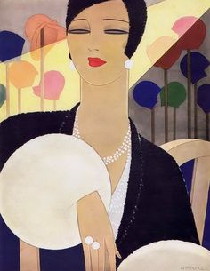 Harriet Meserole cover artwork for Vogue 1928