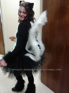 Coolest Homemade Skunk Costume