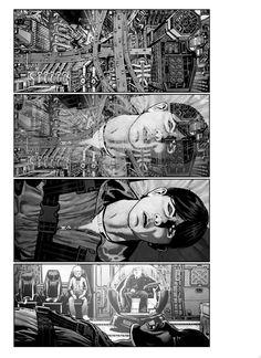 "Storyboards Chris Weston drew for Albert Hughes' live-action adaptation of Katsuhiro Otomo's classic graphic novel,""Akira"". Akira Live Action, Storyboard Artist, Bd Comics, Comic Panels, Creative Illustration, Art Tutorials, Cover Art, Illustrations Posters, Illustrators"