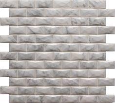 "Carrara White - Carrara White 3D / 1"" x 2"" / Polished"