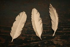 DIY paper feathers