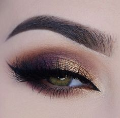 warm purple & gold smoky eye