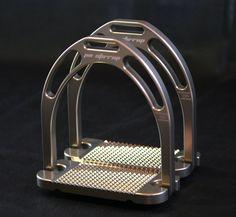 """NEW Original Jin Aluminum Stirrups in Silver (4.75"""")"""