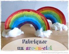 Un bricolage arc-en-ciel qui permet d'aborder les couleurs et le graphisme, tout en faisant une jolie déco multicolore, comme on aime en maternelle.