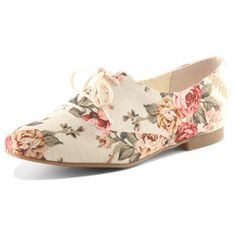 Keeping up with the trends, these floral print oxfords are sure to stand out