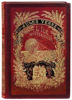 L'Île Mystérieuse (The Mysterious Island) by Jules Verne. Hetzel. 1877. | Tumblr
