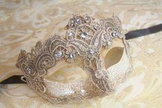 Masquerade ball ideas: Amazon.com : Vintage Gorgeous Venetian Mardigras Masquerade Fancy Mask w/ Brocade Crystals : Costume Masks : Clothing