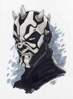 Darth Maul /by *PatrickFinch #deviantART #StarWars #art