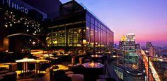 Overlooking Lumpini Park, Sofitel So Bangkok is a luxury design hotel. Sofitel So Bangkok Hotel offers designer rooms, a spa and hip restaurants & cool bars. Sky Bar Bangkok, Rooftop Bar Bangkok, Best Rooftop Bars, Bangkok Hotel, Bangkok Thailand, Rooftop Terrace, Thailand Travel, Design Hotel, Restaurant Hotel