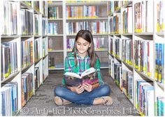 Teenage Portraits at the Library