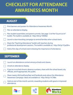 Attendance Awareness Month is in September, and now is the perfect time to start planning!