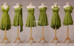 Green bridesmaid dress wedding bridesmaid dress cheap por okbridal, $99.99