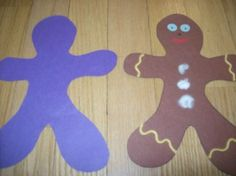 Design your own gingerbread man. Open-ended art. Cute!