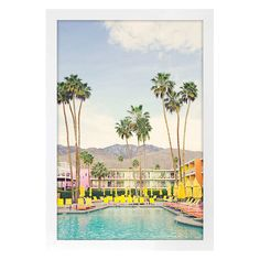 Palm Pool Framed Print Under Glass | At Home Home Wall Decor, Art Decor, Palm Springs Hotels, Mirror Shop, Scale Art, Cool Wall Art, Holiday Places, Art Series, Inspiration Wall