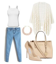 """""""Untitled #3"""" by maida-962 ❤ liked on Polyvore featuring MANGO, Michael Kors, Jimmy Choo and DIANA BROUSSARD"""