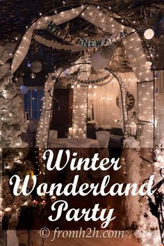 Winter Wonderland Party | Looking to throw a winter wonderland party and want some ideas for food, drinks and decor?  This post has lots of great suggestions!  Would also be good for a White Party or Wedding. Winter Wonderland Ball, Winter Wonderland Decorations, Winter Wonderland Themed Party, Winter Wunderland Party, Winter Party Themes, Winter Birthday Parties, Winter Parties, 18th Birthday Party, Formal Party Themes