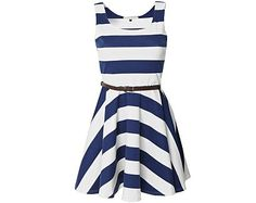 """I'm really lovin' me some nautical style striped dresses right now.  They just say """"summer"""""""