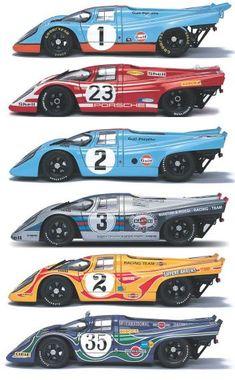 1970 Porsche 917K Collection Be nice to have 6 Porsche's http://dmark.us/v2cigs