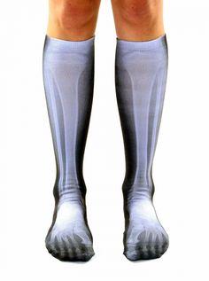 X-Ray Knee High Socks#inked #Inkedgirls #inkedmag #xray #kneehighsocks #halloweensocks #halloween #bones