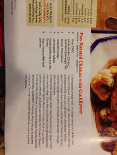 Pan roasted chicken with cauliflower Everyday with Rachael Ray
